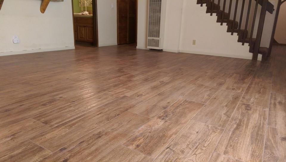 Plank tile flooring porcelain